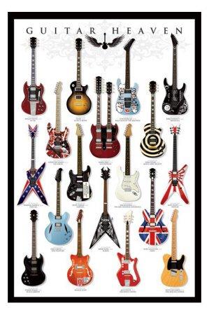 Amazon.de: Poster Guitar Heaven - berühmte E-Gitarren aus der ...
