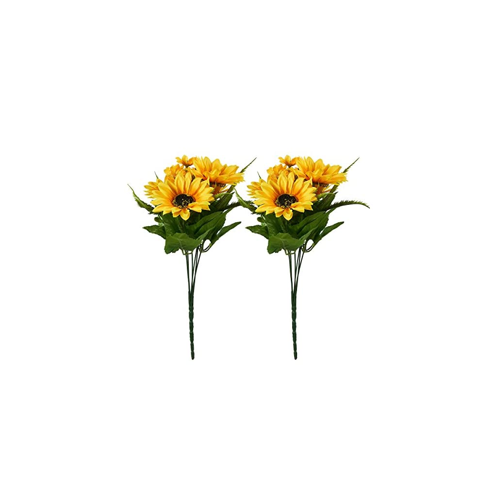 Juvale Artificial Sunflowers 2 Bunches Sunflower Bouquet In Yellow