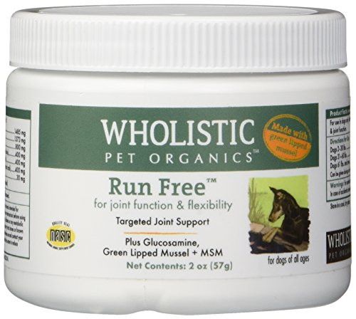 Wholistic Pet Organics Run Free with Green Lipped Mussel Supplement, 2 oz