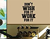 Dabbledown Don't Wish For It Work For It Window Lettering Decal Sticker Decals Stickers