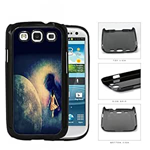 Lost Girl Wandering In Abstract Space Grunge Hard Plastic Snap On Cell Phone Case Samsung Galaxy S3 SIII I9300