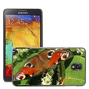 Etui Housse Coque de Protection Cover Rigide pour // M00133528 Mariposa Naturaleza Flor Hoja de // Samsung Galaxy Note 3 III N9000 N9002 N9005
