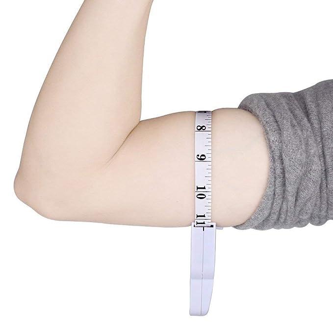 Sunerly Adipómetro, medidor de grasa corporal Fitness 3000 Personal del Cuerpo Grasa Tester Pinza de Freno con Cinta Métrica y Tablas Grasa Fitness Medida: ...