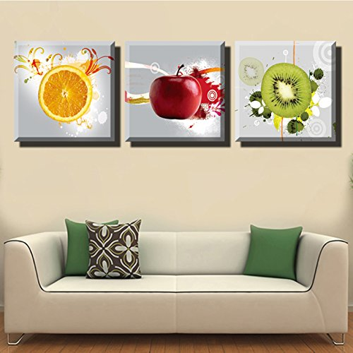 LYGLO Canvas Prints   Bright And Vibrant Fruit Canvas Wall Art Paintings  For Kitchen