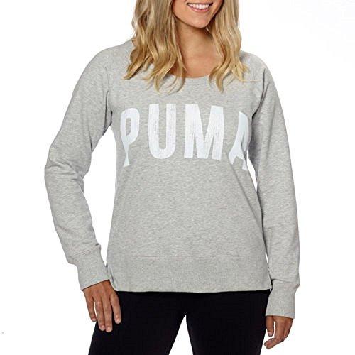Puma® Ladies' Long Sleeve Crew-Light Gray, Large