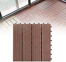 Suelo Entablado, Exterior Respetuoso con el Medio Ambiente Bricolaje Empalme Easy Fit Azulejos Jardín Balcón Patio Anticorrosión Terraza Tabla Impermeable 30x30cm Accesorios: Amazon.es: Hogar