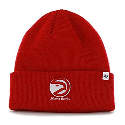 info for fbc6d 0b236  47 Atlanta Hawks Red Cuff Beanie Hat - NBA Cuffed Winter Knit Toque Cap