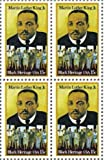 MARTIN LUTHER KING JR. ~ BLACK HERITAGE ~ BLACK HISTORY #1771 Block of 4 x 15 cents US Postage Stamps