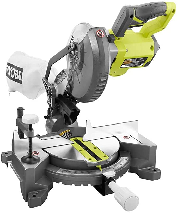 RYOBI 18-Volt ONE+ Cordless 7-1/4 in. Compound Miter Saw (Tool Only) with Blade - - Amazon.com