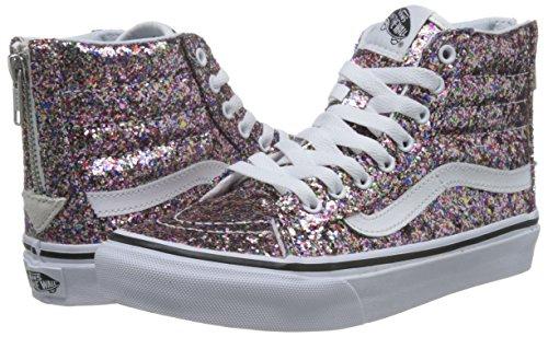 Vans Unisex Sk8-Hi Slim Zip (Chunky Glitter) True Wht Skate Shoe 7 Men US    8.5 Women US  Amazon.co.uk  Shoes   Bags a627d83c0