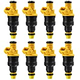 KEYO1E Fuel Injector for Ford F150 F250 F350 E150 E250 E350 E450 Mustang Expedition Excursion Crown Victoria Bronco Econoline Lincoln 4.6 5.0 5.4 5.8 V8 0280150943 (2 Yr Warranty) of 8