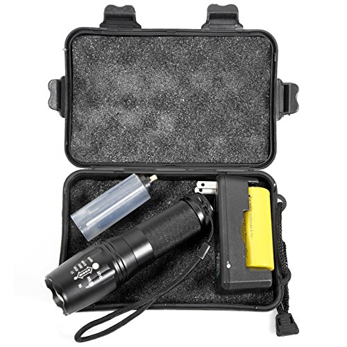 LIVABIT Tactical T1K Super Bright Rechargeable LED Flashlight Kit 1000LM Flashlight Torch by LIVABIT (Image #2)