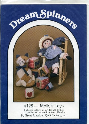Dream Spinners Molly's Toys Full Sized Pattern for 50cm Doll and Clothers B000XQFHAY