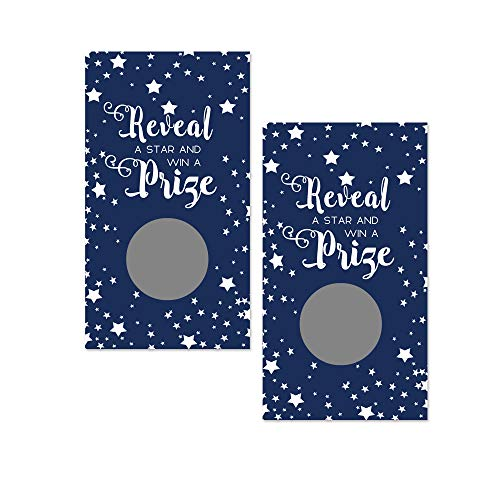 Paper Clever Party Navy Blue Star Scratch Off Game Cards - Pack of 28