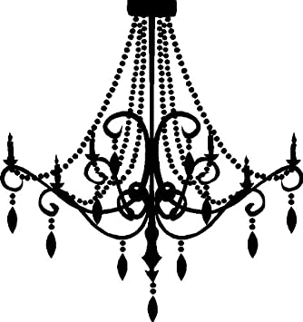 Amazon chandelier wall decal removable wall sticker item 1 chandelier wall decal removable wall sticker item 1 black mozeypictures Images