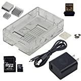 UCTRONICS Starter Kit Includes 5V 2A Power Supply Aluminium HeatSink Shell Case 16GB SD Card WiFi Adapter for Raspberry Pi Model B+ 2 Model B Raspberry Pi 3