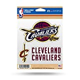 NBA Cleveland Cavaliers Triple Spirit Stickers, Maroon, White, Yellow, 3 Team Stickers