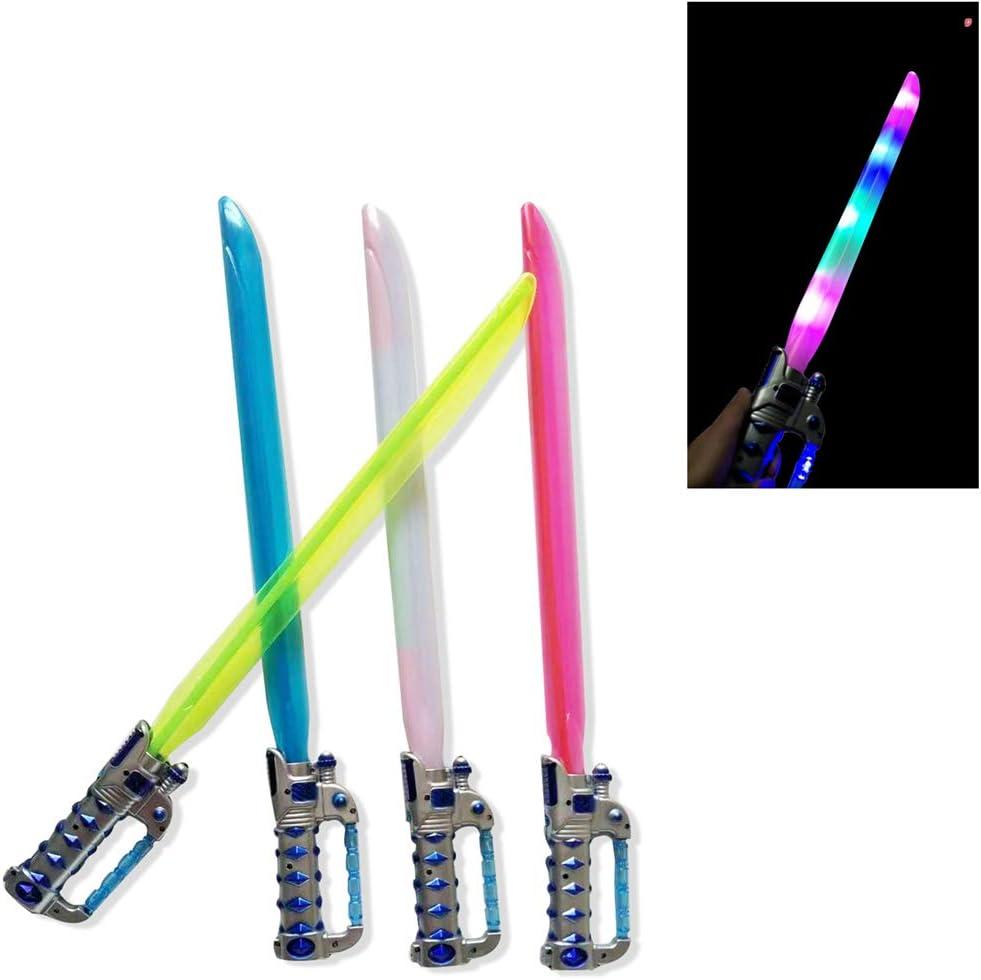 favores para ni/ños Barra de luz Intermitente Espada Luminosa luz LED Espada samur/ái Juguete para ni/ños ENDUL Juguete de Sable de luz de pl/ástico Seguro con Rayos Infrarrojos