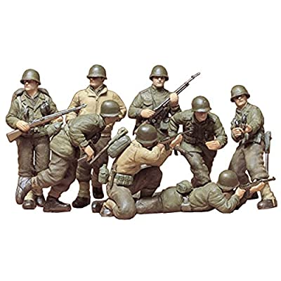 Tamiya Models U.S. Infantry European Theater Model Kit: Toys & Games