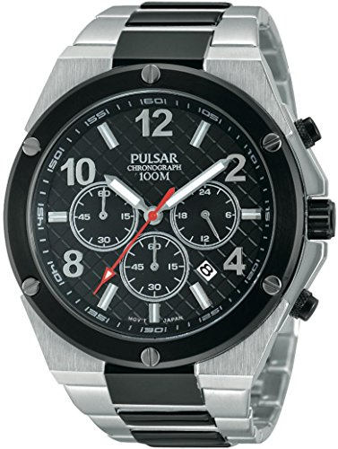 Pulsar Men's Stainless Steel & Black Sport Chronograph PT3445X1