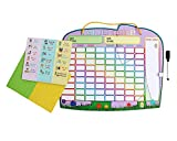 """Responsibility Chore Chart for 2 Kids with Magnetic Stars and Dry Erase Marker by Yoyoboko, 16.4 x 13"""","""