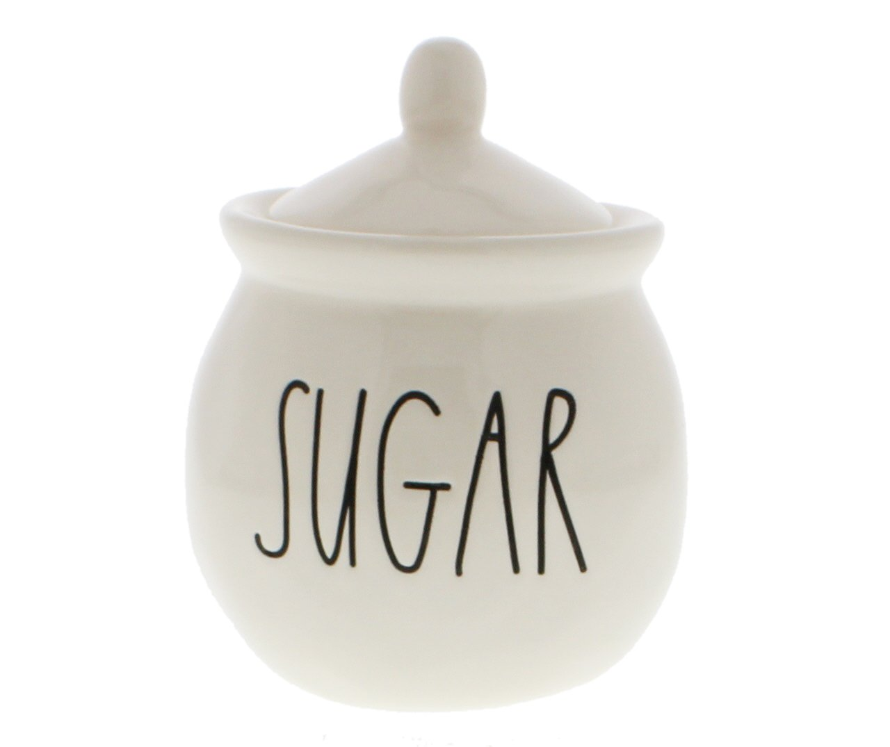 Rae Dunn by Magenta SUGAR bowl with lid. Large Letters. China