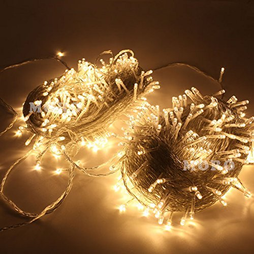 ZOIC 500 LEDs Christmas Wedding Party Fairy String Lights Lamp 100M(328feet) 8 Modes 31V Memory Function Warm White