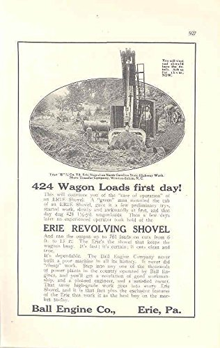 Hibernian Magazine (1915 Erie Shovel Construction Ad Hibernian Bank Chicago)