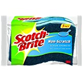 Scotch-Brite Non-scratch Scrub Sponge, 3 Count (Pack of 8)