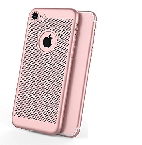 Funda iPhone 5/5S/SE,Alta Calidad Ultra Slim Anti-Rasguño y Resistente Huellas Dactilares Totalmente Protectora Caso de Plástico Duro Case,Cuadrícula Disipación de calor Antideslizante Cover(YQ1-2) E