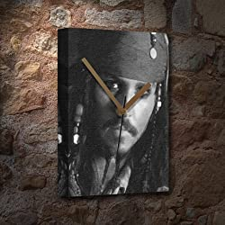 JOHNNY DEPP - Canvas Clock (A4 - Signed by the Artist) #js007
