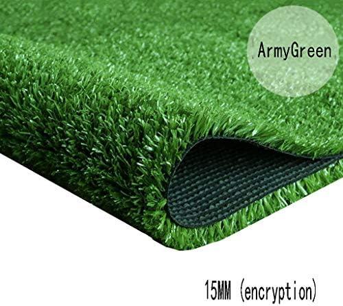 XEWNEG 15MMの緑の総合的な芝生、暗号化のシミュレーションのプラスチックカーペットのマット、防水、幼稚園/庭/屋外の装飾のために適した (Size : 2x2.5M)