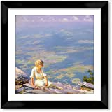 Cutler Miles Sunshine And Haze Framed Oil on Canvas Painting Reproduction Hand Painted Wall Art with Matboard by Charles Courtney Curran, 24 inches x 24 inches