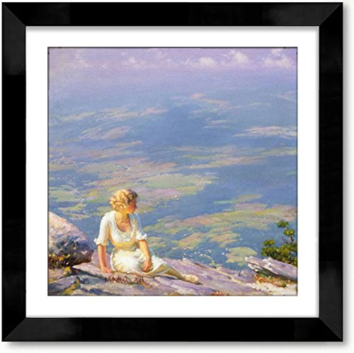 Cutler Miles Sunshine And Haze Framed Oil on Canvas Painting Reproduction Hand Painted Wall Art with Matboard by Charles Courtney Curran, 24 inches x 24 inches by Cutler Miles