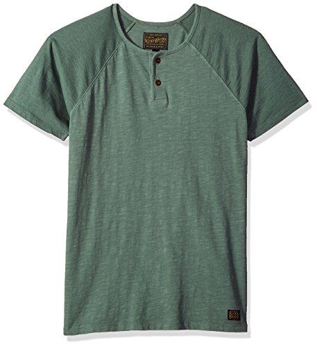 Lucky Brand Men's Colorblock Baseball Henley TEE Shirt, Laurel Wreath, M by Lucky Brand