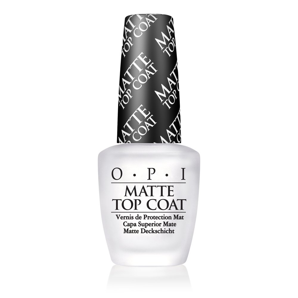 OPI Nail Polish and Nail Lacquer Top Coat, Matte Finish Nail Polish Top Coat, 0.5 Fl Oz