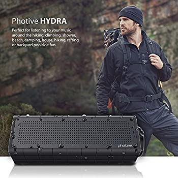 Photive Hydra Portable Bluetooth Speaker With Enhanced Bass. Waterproof Rugged Portable Speaker For Home, Travel & Outdoors 4