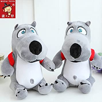 Aliexpress new 18CM gray fool backpack bear plush toys wholesale lovely pp cotton soft toys childrens