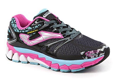 Joma Titanium Lady, Zapatillas de Running para Mujer Negro (Black-turquoise)