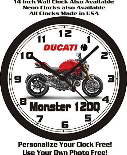 Ski Free Monster (2014 DUCATI MONSTER 1200 MOTORCYCLE WALL CLOCK-FREE USA SHIP!)