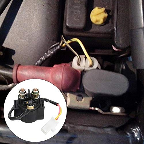 (Fincos 12V 150A Auto Car Starter Relay Solenoid for Aprilia RSV 1000 Tuono Mille Black Car Accessories - (Color: Black))
