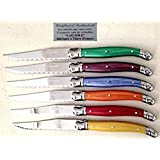 6 Knives laguiole veritable FRANCE covered table