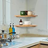 Jorikchuo 10 inch Corner Wall Shelf, Set of 2 Solid