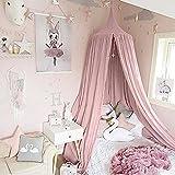 Ciel de lit pour enfants, UltraGood Filet anti-moustique en coton à suspendre - Rideau, Tente de lecture Intérieure et Extérieure, décoration de lit et de chambre à coucher, Moustiquaire (hauteur : 240cm, Circonférencedu haut : 152cm, circonférence du bas: 265cm)