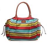 Kate Spade Stevie Key West Baby Large Striped Diaper Bag