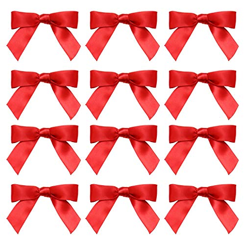 (JETEHO 100pcs Fabric Ribbon Bow Tie Craft, Satin Bows for DIY Projects and Hair Accessory Cards, Baby Showers, Scrapbooks, Jewellery Making, Wedding Decor)