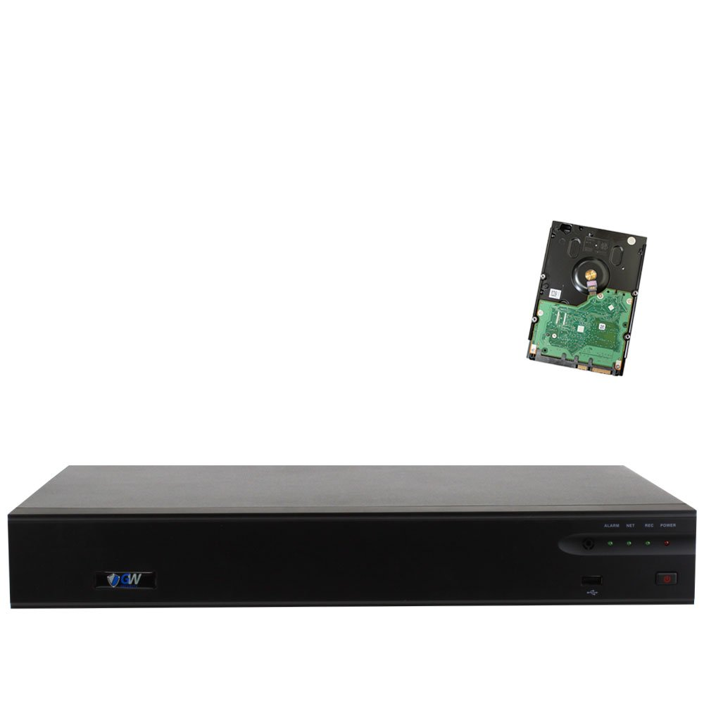 GW 32 Channel H.265/H.264 4K (3840×2160) NVR Security Network Video Recorder - Supports Up 32 X 8MP /5MP/4MP 1080P Any ONVIF IP Camera @ 30fps Realtime, Hold Up to 4x SATA HDDs, Pre-installed 4TB HD by GW Security Inc (Image #10)