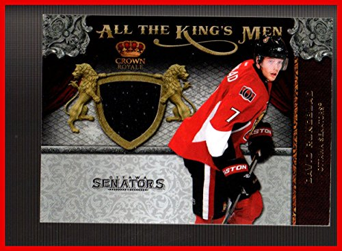 2011-12 Crown Royale All The Kings Men Materials #14 David Rundblad GAME USED JERSEY SENATORS