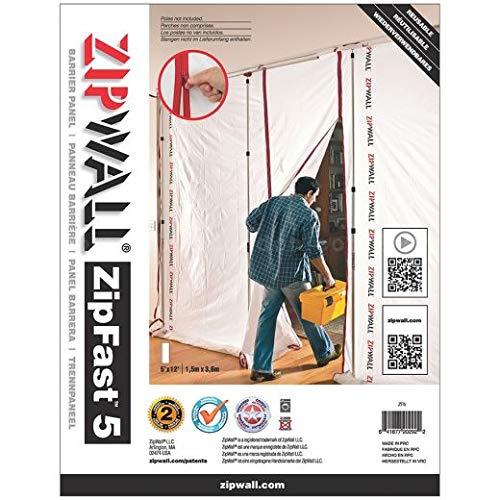 ZipWall ZipFastReusable Barrier Panels, Multi‑Pack