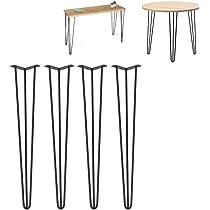 SOULONG - Juego de 4 patas de mesa baja de hierro negro para ...